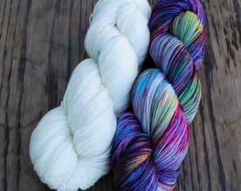Polarity Shawl Kit - Dia Merino Sock- Colour Adventures (fibers: superwash merino, nylon)