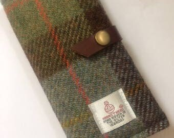 Harris tweed cell phone case cover mens gift sleeve iPhone 7plus case tartan phone sleeve iPhone 6 case iPhone 5s case iPhone 7 sleeve