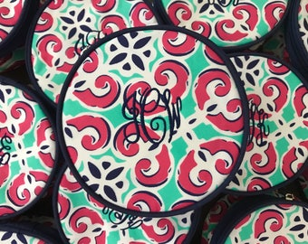 Monogram Travel Case - Monogram Jewelry Bag  - Jewelry Holder - Cheer Bag