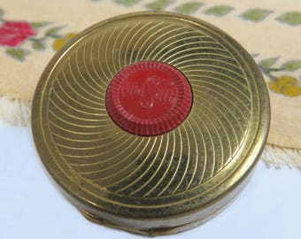 Coty Rouge Compact & Puff, Sub Deb Air Spun, Mint Condition, Unused Vintage Rouge Tin