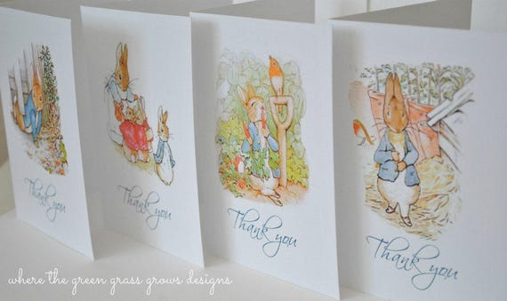 Beatrix Potter Peter Rabbit Note Cards - READY TO SHIP