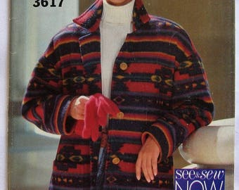Butterick See & Sew Pattern 3617 Misses' Jacket Size L - XL