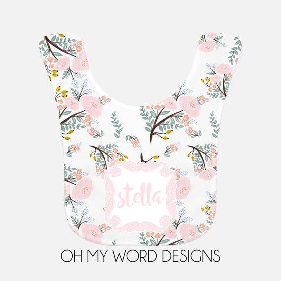 Personalized baby bib monograms baby gifts bibs baby girl baby like this item negle Gallery