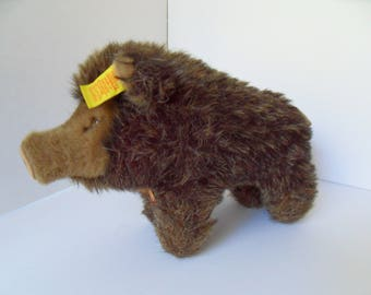 Steiff boar wild boar  pig all Ids made in Germany 2400