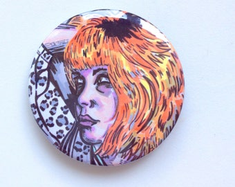 Orange hair girl 38mm badge