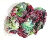 SummerIsle Lace. Merino Silk. Unfurling Poppy