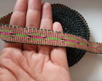 Uzbek handwoven cotton trim Jiyak. Ethnic Boho, Hippy trim. NTR042