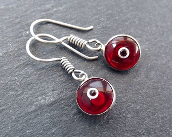 Red Evil Eye Dangle Earrings Bohemian Boho Style Light Comfortable Daytime Jewelry Authentic Turkish Style Drop Earring  FREE SHIPPING