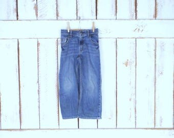 Baby/kids/childrens loose fit straight leg Gap faded/distressed blue denim jeans/Baby Gap loose fit/5T