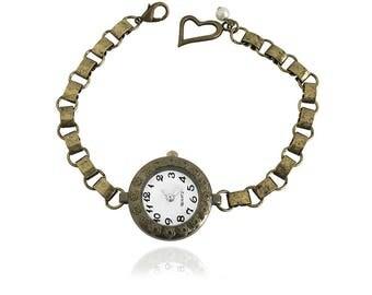 Get 15% OFF - Vintage-style Antique Bronze Handmade Fashion Women Flower Quartz Watch Bracelet - Labor Day SALE 2017