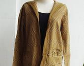ON SALE 40% off, J2, Caramel Comfort Hood Yellow Brown Cotton Jacket
