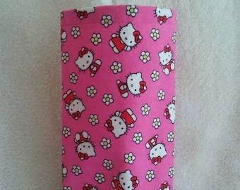 "Kitchen Plastic Grocery Bag Holder, Dispenser, Storage, Hostess Gift, Grab Bag Gift, ""Hello Kitty Pink!"""