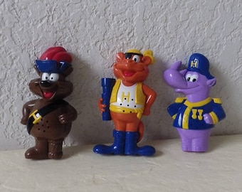 Set of 3 Kazoo Crew Sailors,Hardee's Kid's/Happy Meal Toys  Rare  1991 All work.