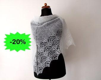 white bridal shawl, knit wedding wrap, delicate lace shawl, white cover up