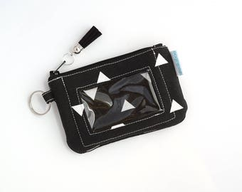 Womens Wallet - Credit Card Wallet for Women - ID Card Holder - Keychain Wallet - Card Holder Wallet - Zip ID Case - Gift for Her