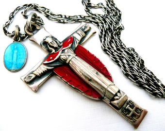 Sterling Silver Silver Crucifix Necklace