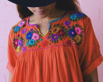 Hand embroidered blouse from Puerto Escondido, Oaxaca