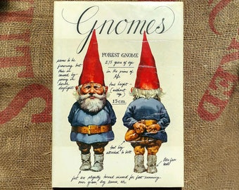 You Gnome You Want This Vintage Book From 1977 Hardcover with Dust Jacket Wil Huygen Color Illustrations Rien Poortvliet