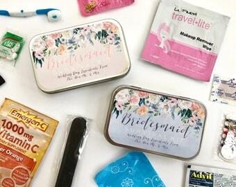 Bridesmaid Gift, Bridesmaid Gift Box, Bridesmaid Survival Kit, Bridsmaid Sticker, Wedding Day Survival Kit, Emergency Kit, Wedding Favor
