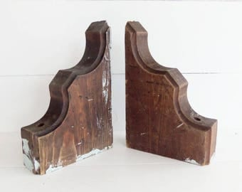 Architectural Corbels, Pair of Bookends, DIY Project, Architectural Salvage