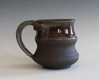 Pottery Mug, 10 oz, unique coffee mug, handmade ceramic cup, hand thrown mug, stoneware mug, wheel thrown pottery mug