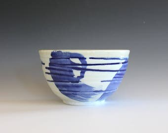 Porcelain Pottery Bowl, Ceramic Bowl, Pottery Serving Bowl, Wheel Thrown Bowl, Handmade Ceramic Bowl, ceramic pottery bowl, stoneware bowl
