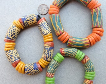 African Beads -3 Bracelets