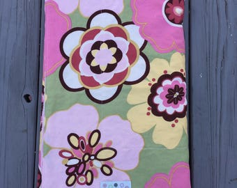 Baby girl Blanket/ Pink Floral Blankie/ Baby Shower Gift/ SALE