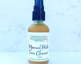 Organic Face Cleanser, Natural Face Wash, Organic Facial Cleanser, Essential Oil Cleanser, Sea Buckthorn Cleanser, Face Cleanser, Mermaids