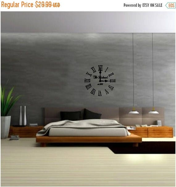 ON SALE Clock vinyl with clock hand parts..