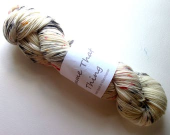 Hand Dyed Sock Yarn Merino Superwash and Nylon Wool - Speckle Freckle