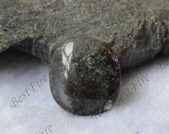 18x21mm Oval Phantom quartz crystal Quartz Pendant,Transparent Quartz,lodolite quartz,semi-precious stone pendant