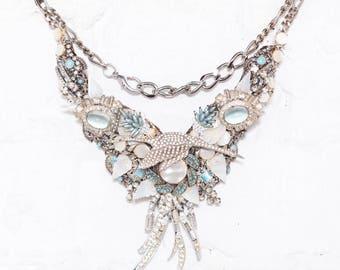 Maya Abstract Bib Necklace