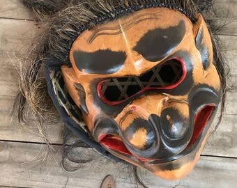 Antique Bali-Indonesia Hand Painted Hand Carved Wood Mask