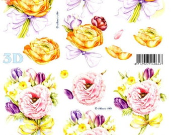 93 - 3d image sheet by cutting anemones