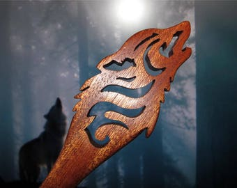 Hair Stick - Wolf Dagger in Mahogany