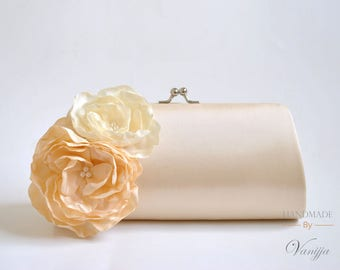 Vanilla, Ivory - Bridal Clutch / Bridesmaid clutch / Prom clutch / Wedding clutch / Custom Clutch