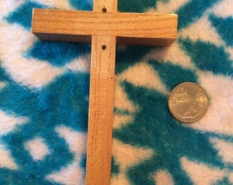 """Wooden cross home decoration etc,  6"""" high by 3"""""""