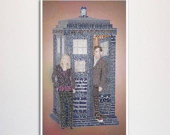 Doctor Who: Tenth Doctor word art print - 11x17""