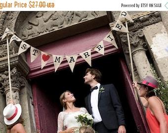 JUST MARRIED Banner, Wedding Banner, Just Married Burlap Banner, Burlap Wedding Banner, Wedding Reception Decoration, Wedding Burlap Banner