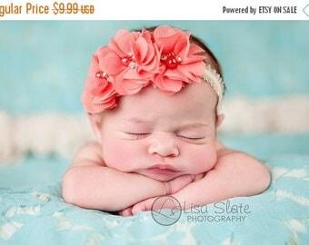 12% off Vintage headband, Baby headband, newborn headband, trim headband, adult headband, and photo prop Sweetheart headband