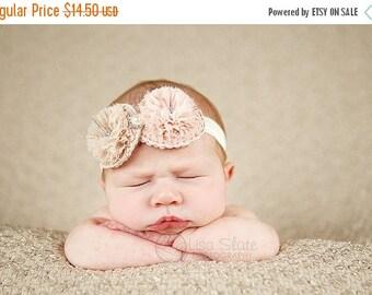 12% off Baby headband, newborn headband, adult headband, child headband and photography prop The double sprinkled- MINI Chiffon puffer fall