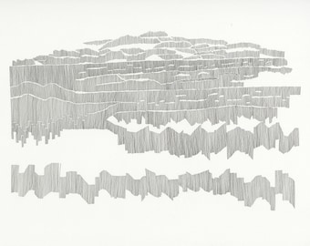 Chart 24, archival print / drawing / abstract contemporary art / cartography / music score / composition