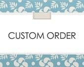 Custom Listing for Liz - Wood Grain Art with Custom Add On Animals