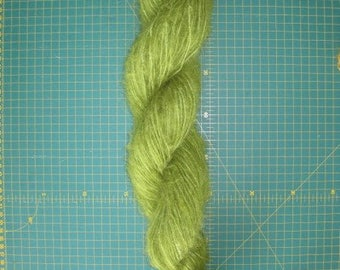 Hand dyed Mohair Yarn Green