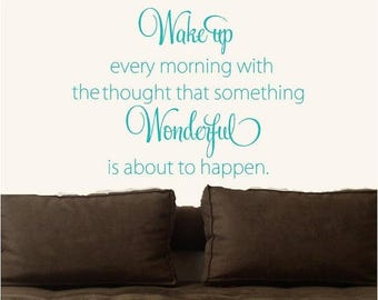 20% OFF Wake up every morning  Vinyl Lettering wall words quotes graphics decals Art Home decor itswritteninvinyl