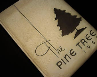 Pine Tree Yearbook, The Pine Tree, Vintage Yearbook, Bethesda-Chevy Chase, Vintage Annual, Pine Tree Annual, High School Annual, Yearbook