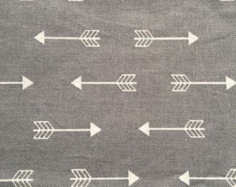 Grey Arrows - Quilting Cotton Fabric - BTY