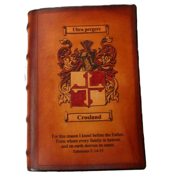 Sonshine Leather Family Crest Bible or Celtic Clan