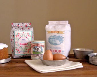 NEW Felt Food Baking Set, Flour, Sugar, Milk, Eggs